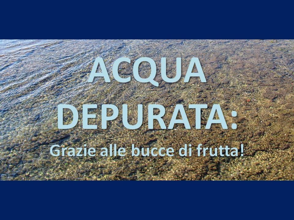 Acqua depurata grazie alle bucce di frutta salute in tavola - Acqua depurata in casa ...