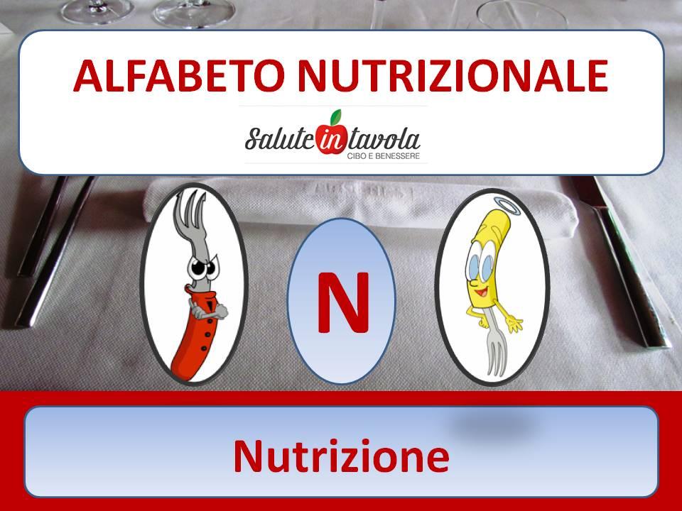 alfabeto alimentare N NUTRIZIONE foto