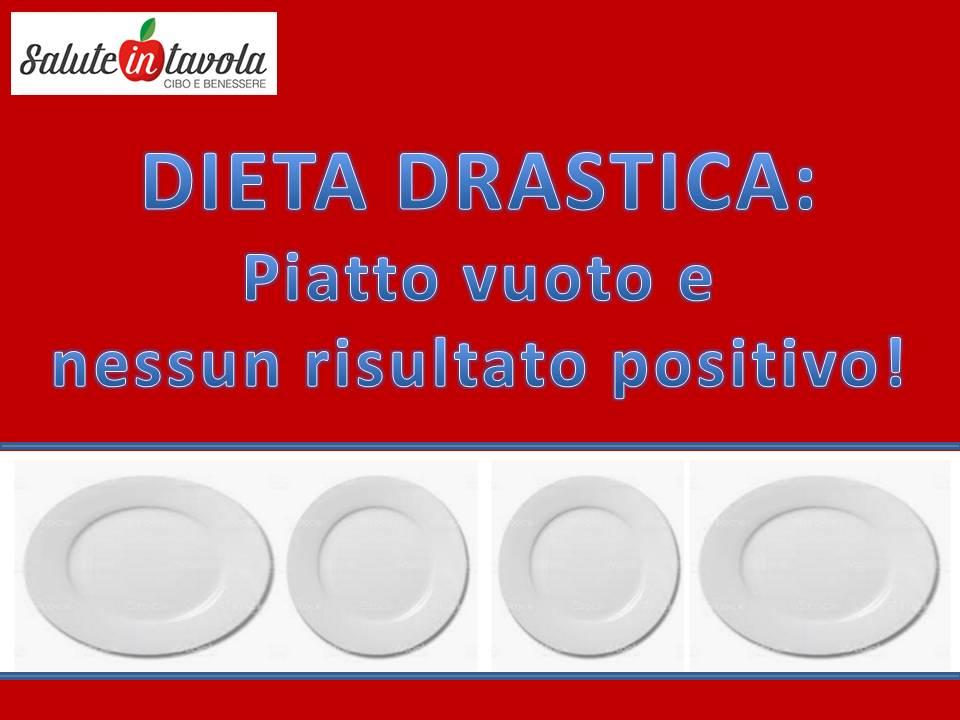dieta drastica piatto vuoto foto