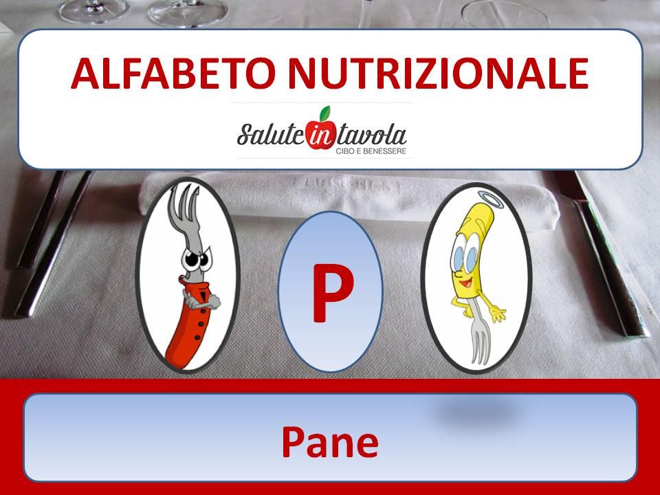 alfabeto alimentare P PANE foto