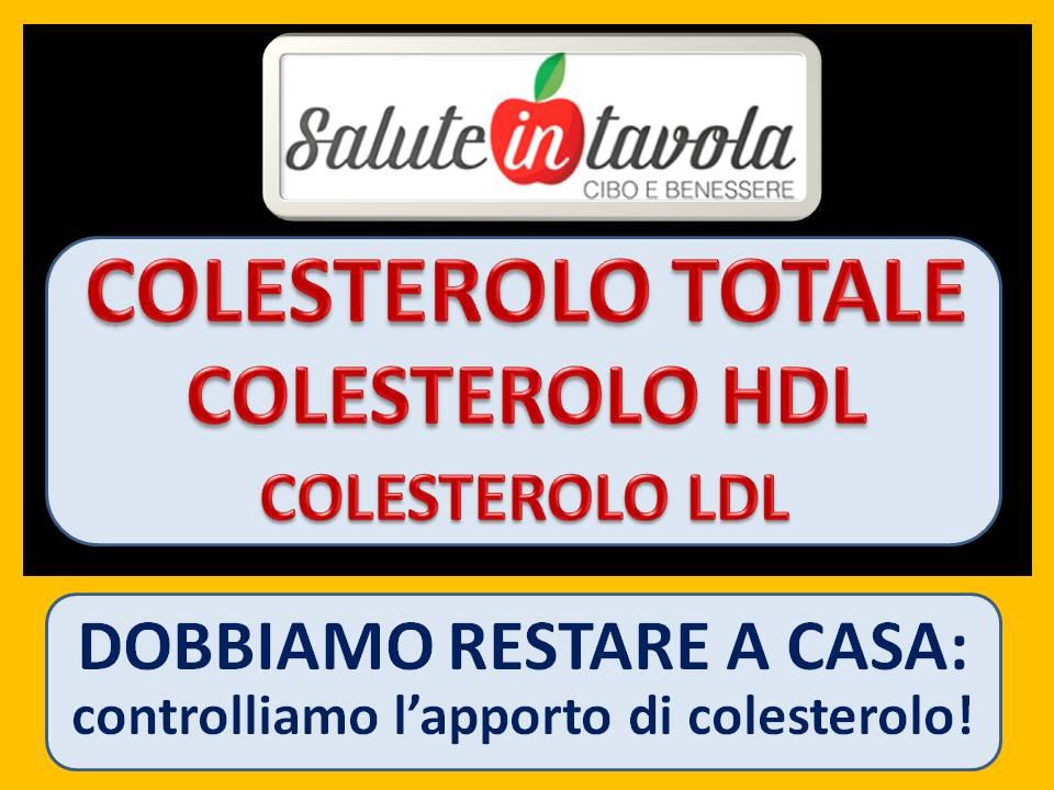 Dobbiamo Restare A Casa Controlliamo L Apporto Di Colesterolo Salute In Tavola